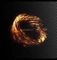 glowing fire sparks vortex isolated on black vector image