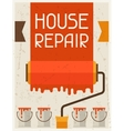 House repair Retro poster in flat design style vector image