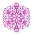 Pink Flower Mandala Over White vector image