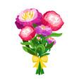 pink peonies bouquet vector image