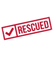 Rescued rubber stamp vector image