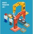 Robotic production line vector image