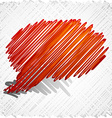 Scribbled speech shape vector image