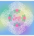 spring pattern of spirals swirls chains vector image