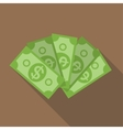 US Dollar Stack Paper Banknotes Icon Sign vector image