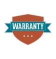 Vintage Label - Warranty vector image