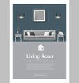 Interior design Modern living room banner 5 vector image