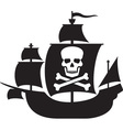 Pirate Ship Icon vector image