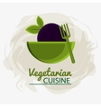 bowl fork vegetable vegetarian cuisine vector image