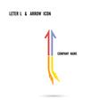 Creative letter L icon logo design vector image