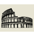 roman coliseum vector image vector image