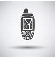 Portable GPS device icon vector image
