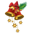 Christmas bells with a stars vector image