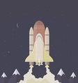 Shuttle flies into space vector image