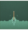 Creativity learning Rocket ship launch made vector image