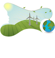 Nature is helping generate energy vector image