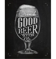 Poster good beer chalk vector image