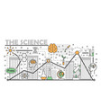 science concept flat line art vector image