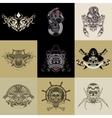 Set of nine art label vector image