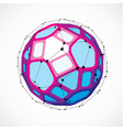 dimensional wireframe low poly object spherical vector image