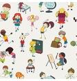 School kids doodle seamless pattern vector image vector image