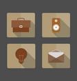 4 icons business bag light bulb envelope speaker vector image