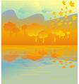 golden autumn grove vector image