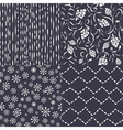 Christmas pattern set vector image vector image
