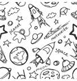 Doodle pattern cosmos vector image