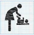 symbol for women and baby vector image