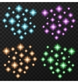 Colorful sparkles set vector image
