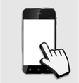 Abstract design realistic mobile phone with blank vector image