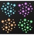 Colorful sparkles set vector image