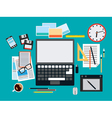 Designer workplace flat vector image
