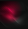 glowing particles wave design template vector image