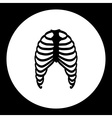 human ribs bones black simple icon eps10 vector image