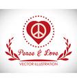Peace design vector image