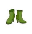 pop art style boots sticker vector image