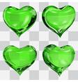 Set of transparent hearts vector image
