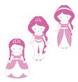 Three princesses vector image