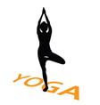 yoga with girl vector image