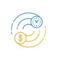 Business and finances icon stock exchange earn vector image