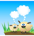 sheep are thinking vector image vector image