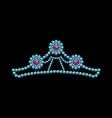 Crown from gemstones vector image
