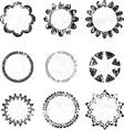 Flower Grunge Labels vector image