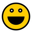 happy smiley smiling face flat style vector image