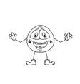 laugh emoticon sketch vector image