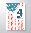 4 of july cover design vector image