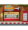 Fastfood shop vector image vector image