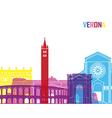 Verona skyline pop vector image